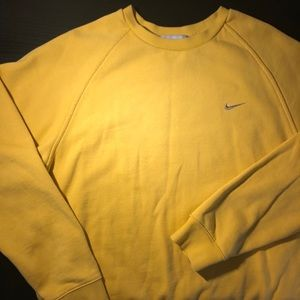 Yellow Nike Crewneck Pullover